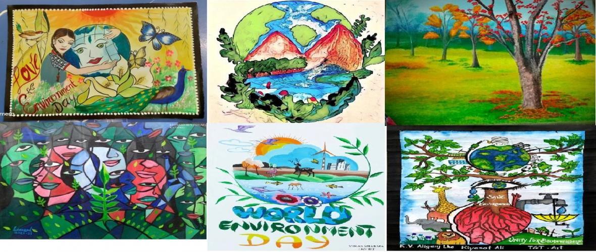 Art Work dedicated to World Environment Day from Kendriya Vidyalaya Sangathan.